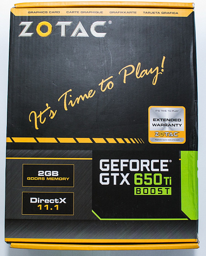 Обзор ZOTAC GeForce GTX 650Ti Boost