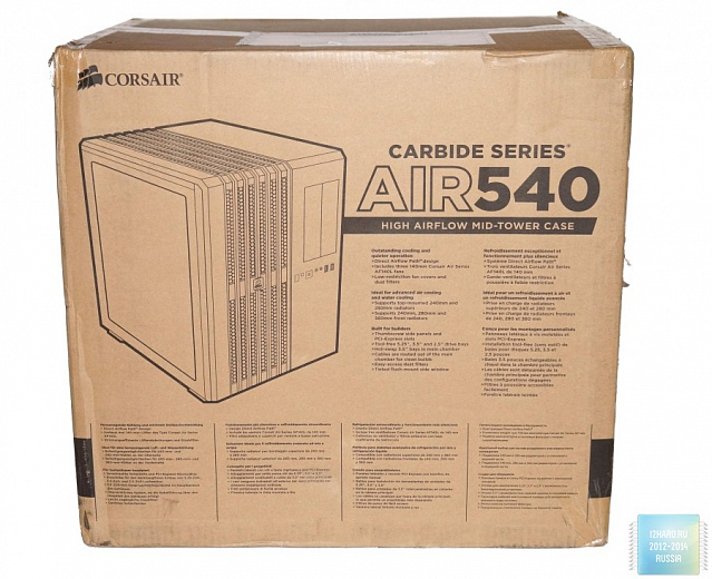 Обзор и тест Corsair Carbide Air 540 Arctic White