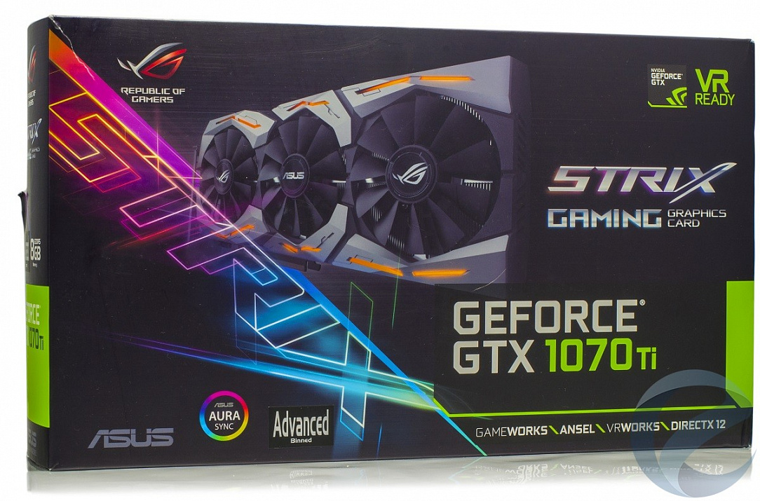 Обзор и тестирование видеокарты ASUS ROG Strix GeForce GTX 1070 Ti Advanced edition (ROG-STRIX-GTX1070TI-A8G-GAMING)