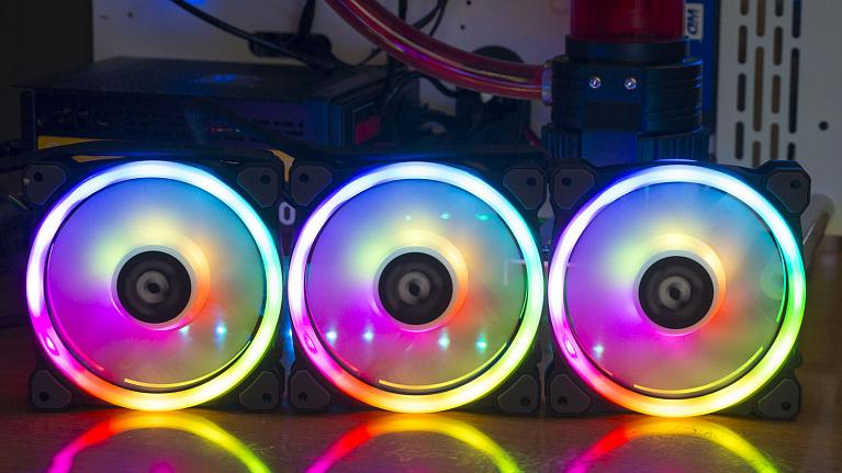 Обзор и тест Tt Riing Trio 12 RGB Radiator Fan TT Premium Edition (3-Fan Pack)