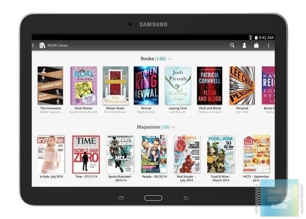 Samsung в сотрудничестве с Barnes & Noble показала новый Galaxy Tab 4 Nook 10.1