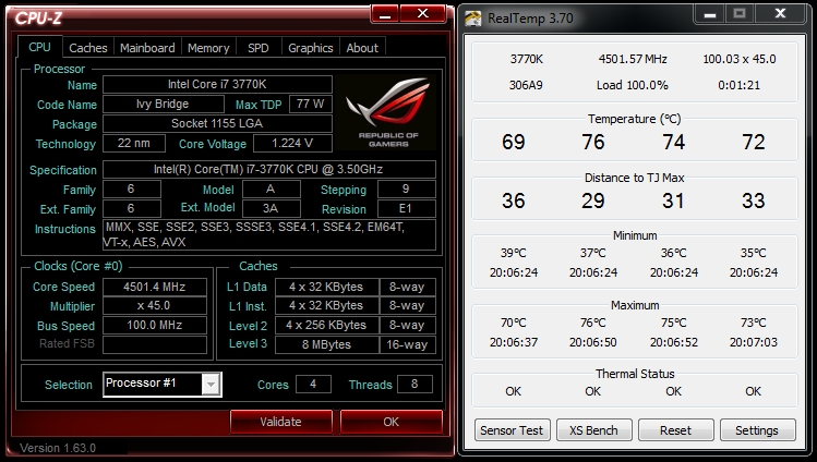 x2TR nagr 4500MHz 2500rpm