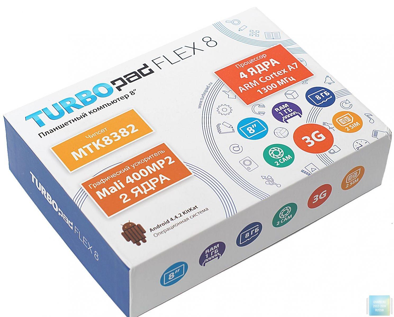 Упаковка планшета TurboPad Flex 8