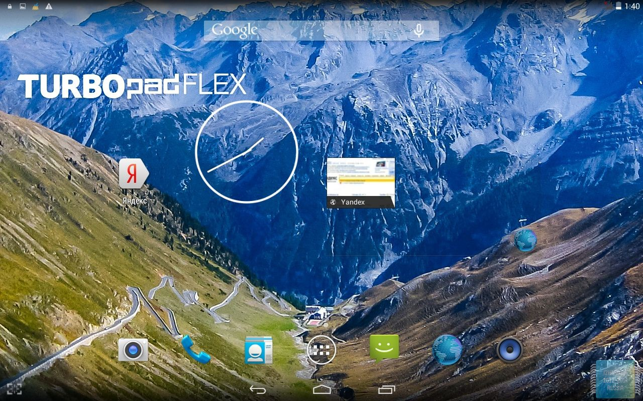 ОС Android 4.4.2 планшета TurboPad Flex 8