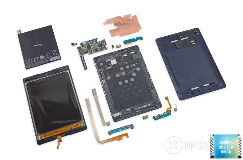 iFixit оценили ремонтопригодность Nexus 9