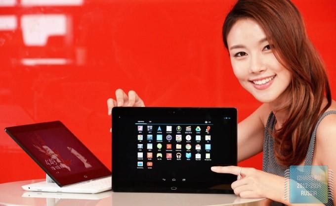 LG представила новый планшет Tab Book,