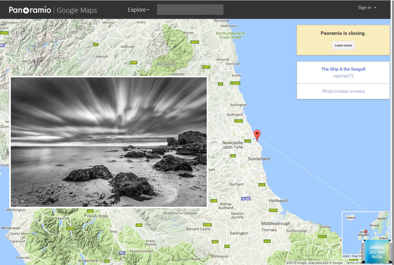 Google закрывает собственный сервис Panoramio