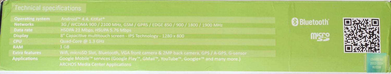 Упаковка и комплектация планшета ARCHOS 80b Xenon