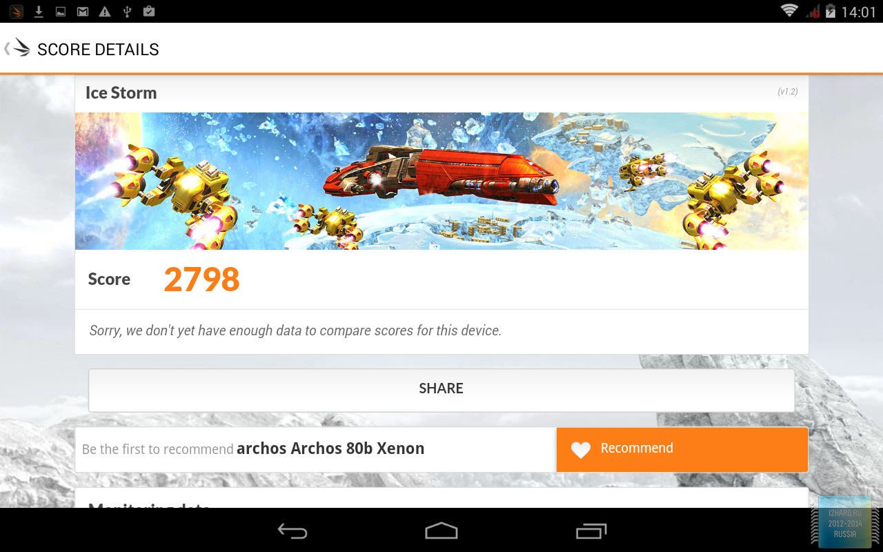 Тестирование планшета ARCHOS 80b Xenon
