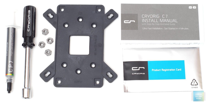 Упаковка и комплектация кулера CRYORIG C7