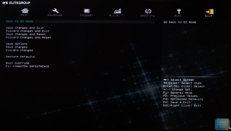 Интерфейс UEFI BIOS материнской платы ECS Z97I-Drone