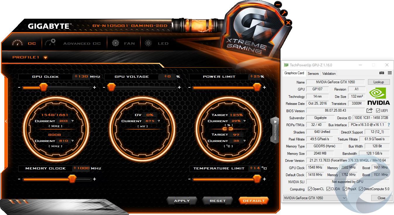 Обзор и тест видеокарты Gigabyte GTX 1050 G1 Gaming (GV