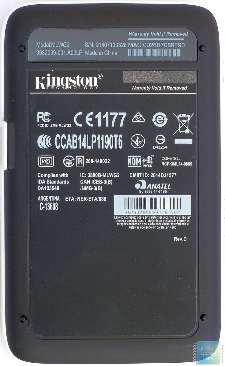 Kingston MobileLite Wireless G2. Внешний вид