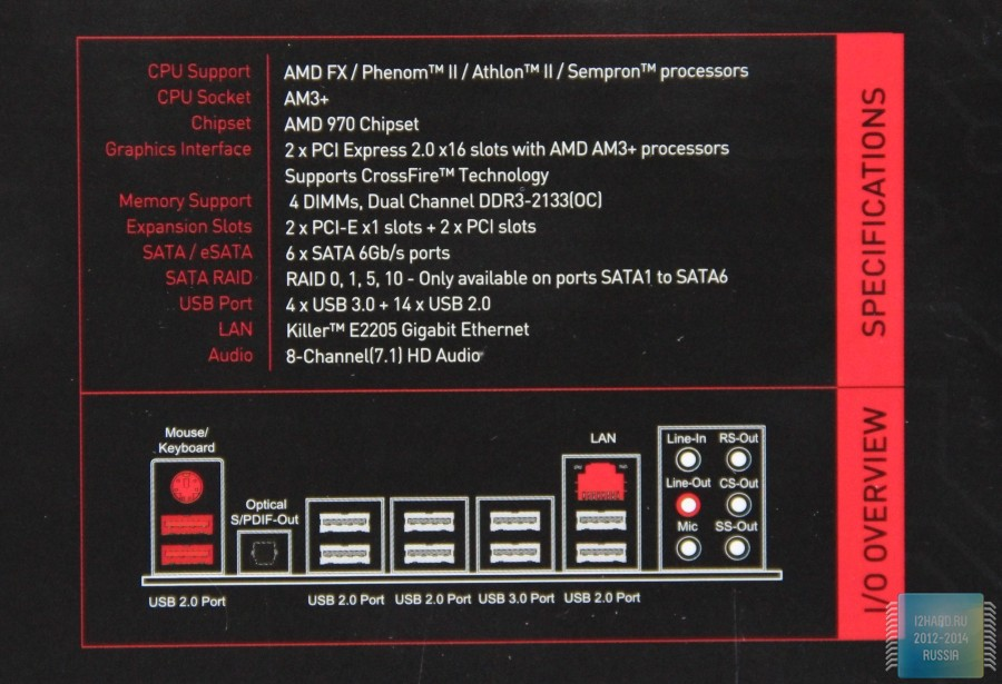 Обзор и тест материнской платы MSI 970 Gaming — i2HARD