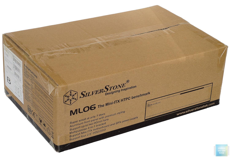 Упаковка и комплектация корпуса SilverStone ML06B
