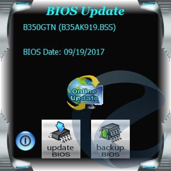 Фирменное ПО материнской платы Biostar Racing B350GTN