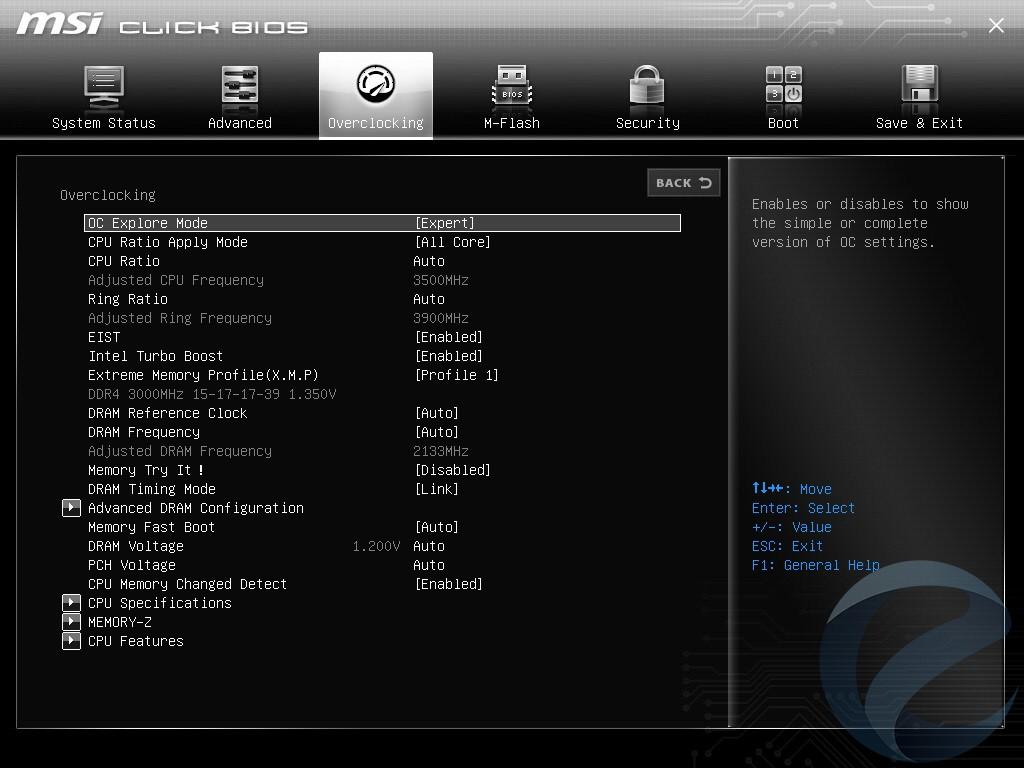 UEFI BIOS материнской платы MSI B150M BAZOOKA PLUS