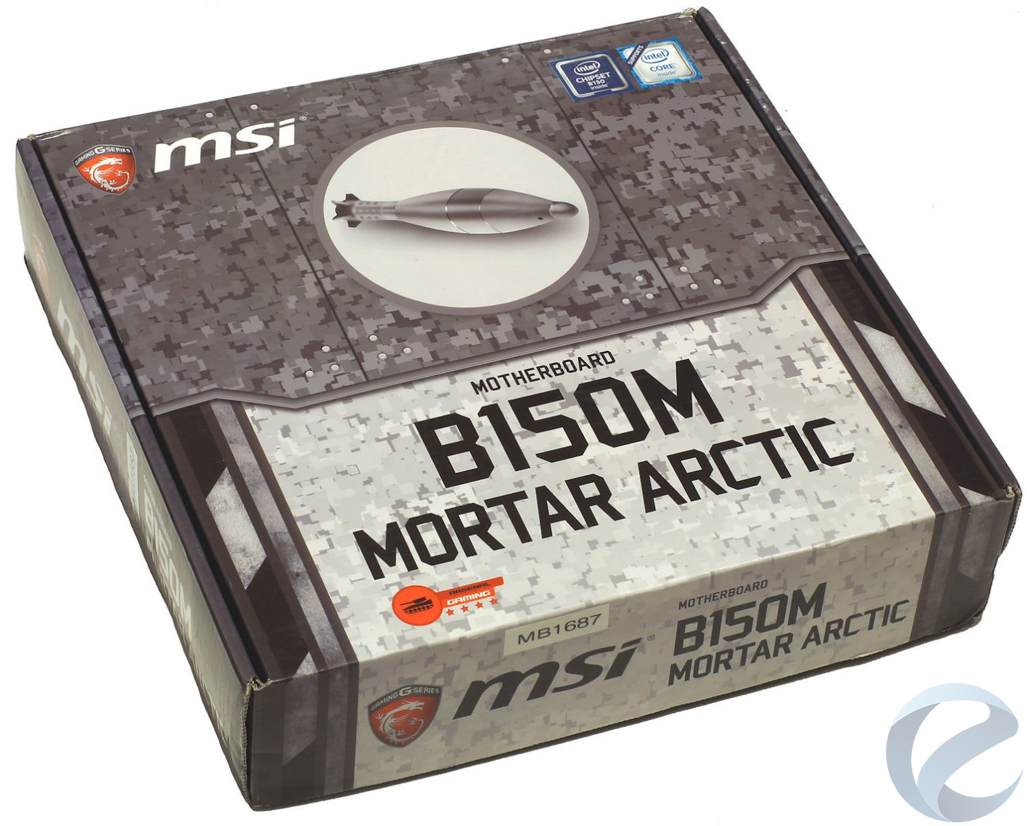 Упаковка и комплектация материнской платы MSI B150M MORTAR ARCTIC