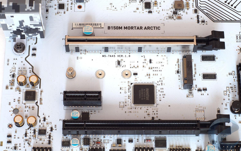 Внешний вид и особенности материнской платы MSI B150M MORTAR ARCTIC