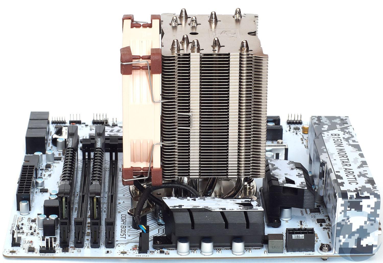 Тестовый стенд с материнской платой MSI B150M MORTAR ARCTIC