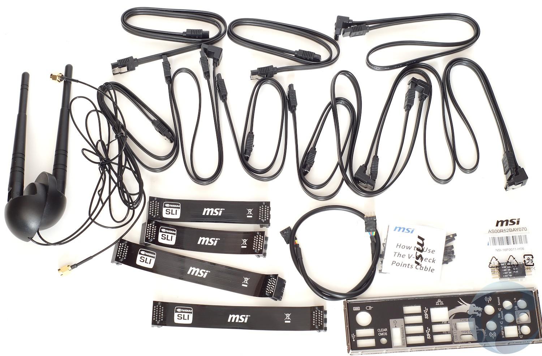 Упаковка и комплектация материнской платы MSI X99A XPOWER GAMING TITANIUM