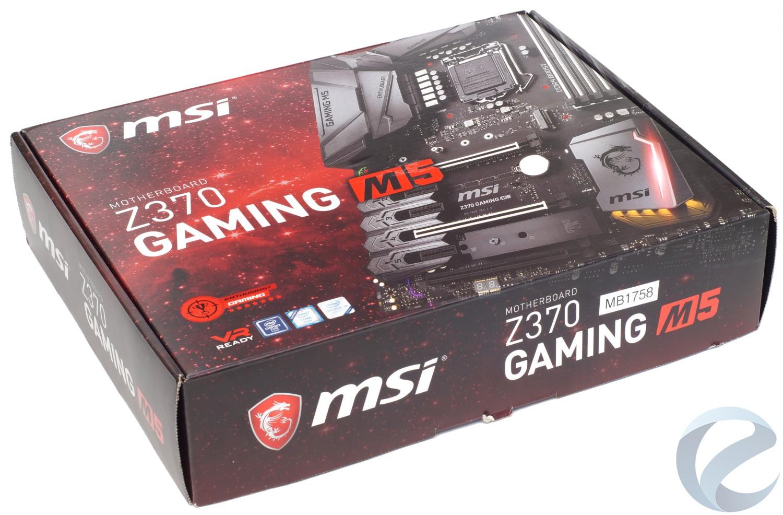 Упаковка и комплектация материнской платы MSI Z370 GAMING M5