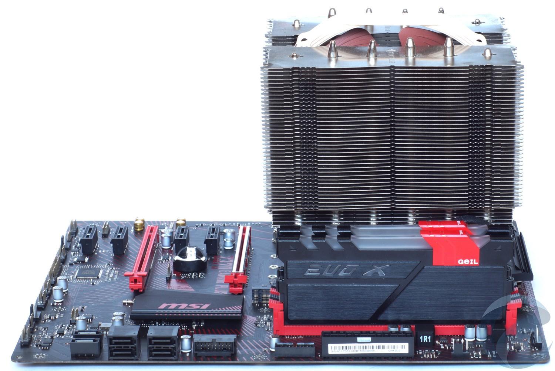 Тестовый стенд с материнской платой MSI Z370 GAMING PLUS