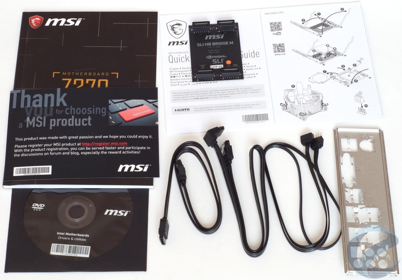 Упаковка и комплектация материнской платы MSI Z370 SLI PLUS