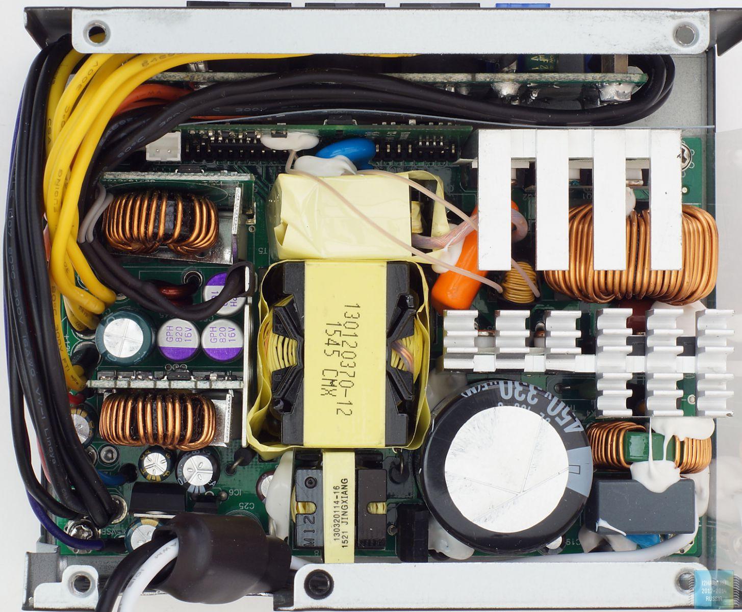 Строение SFX блока питания SilverStone SX600-G