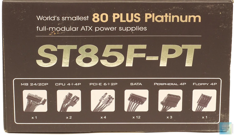 Упаковка и комплектация блока питания SilverStone Strider Platinum ST85F-PT (850 Вт)
