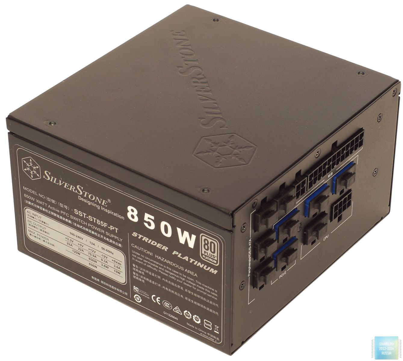 Внешний вид блока питания SilverStone Strider Platinum ST85F-PT (850 Вт)