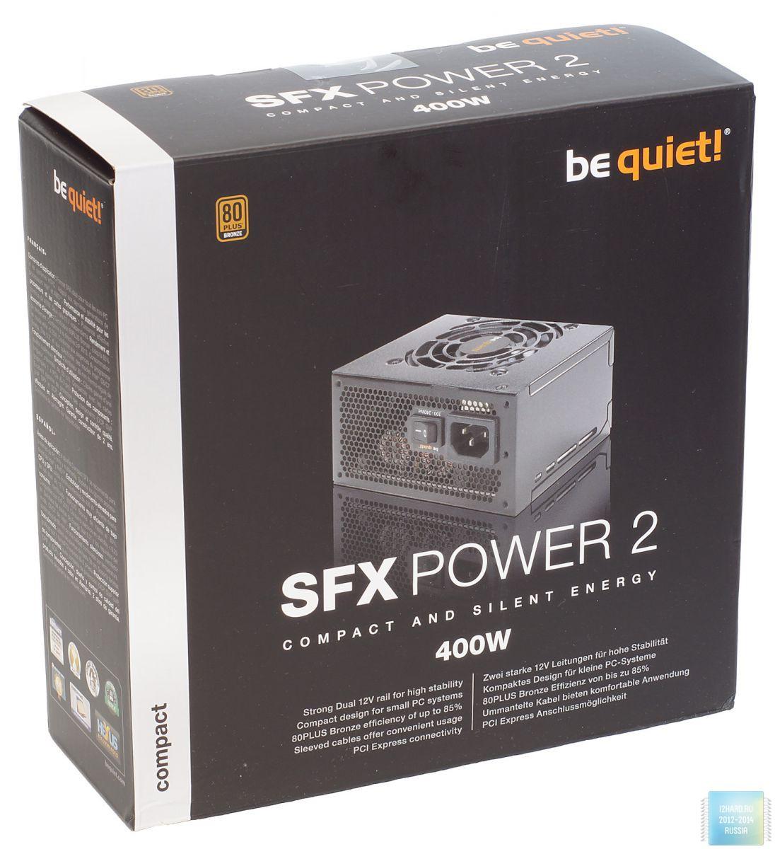 Упаковка и комплектация блока питания be quiet! SFX Power 2 400W
