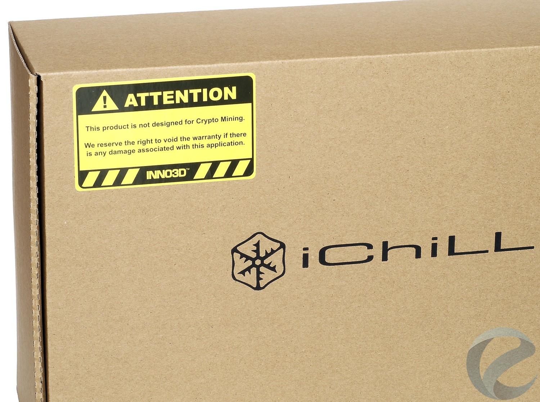 Упаковка и комплектация видеокарты Inno3D iChiLL GeForce GTX 1070 Ti X4