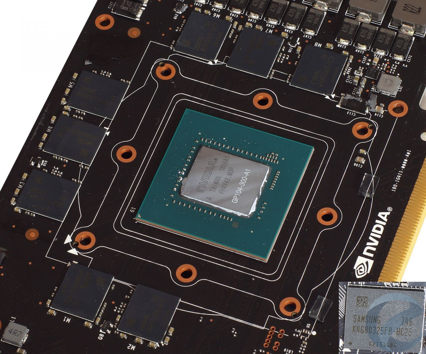 Печатная плата видеокарты Inno3D iChiLL GeForce GTX 1070 Ti X4
