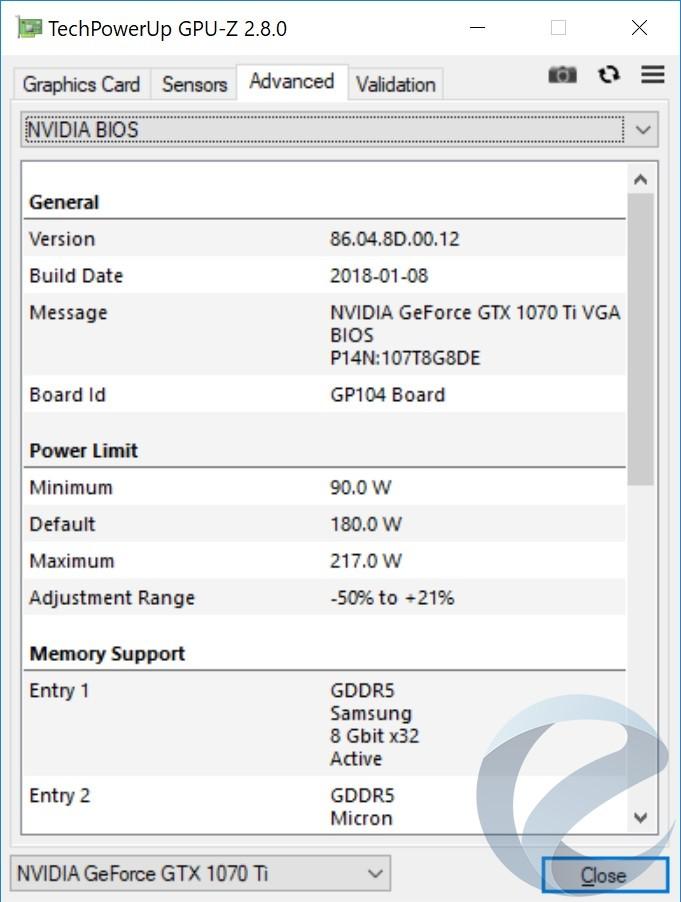 Технические характеристики видеокарты Inno3D iChiLL GeForce GTX 1070 Ti X4