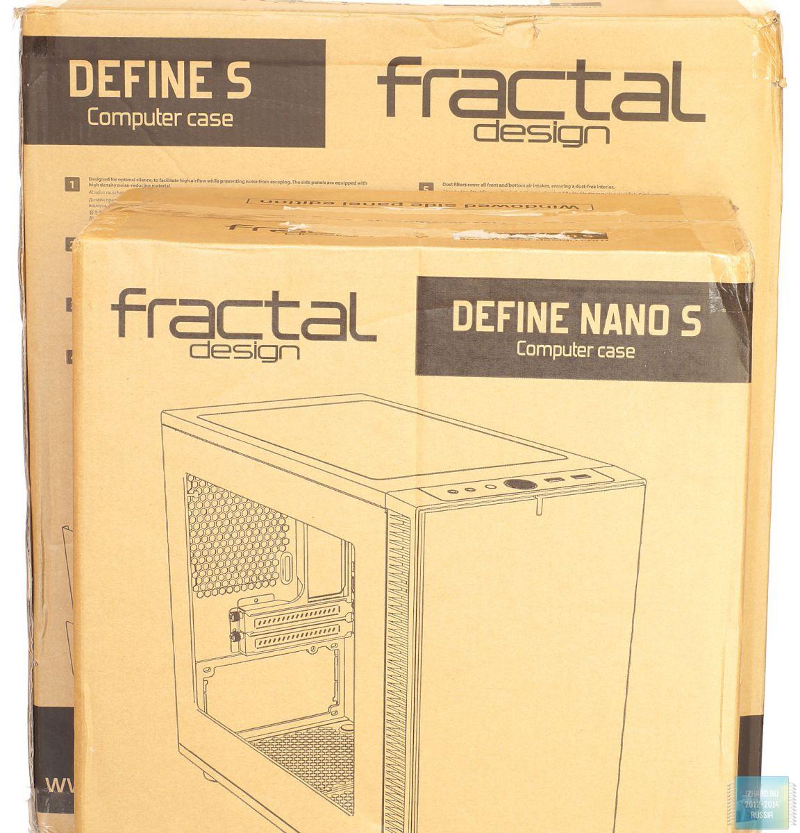 Упаковка и комплектация корпуса Fractal Design Define Nano S Window