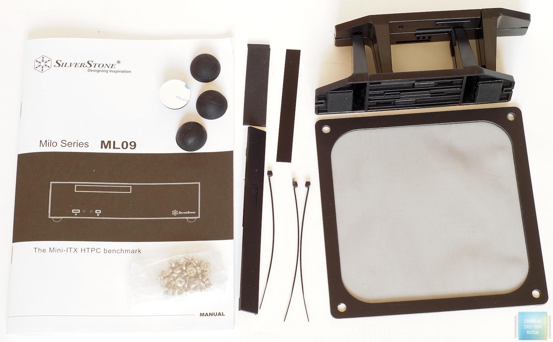 Упаковка и комплектация Slim HTPC-корпуса SilverStone ML09