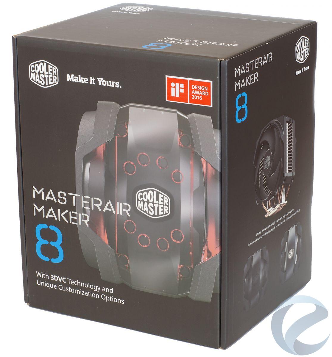 Упаковка и комплектация кулера Cooler Master MasterAir Maker 8