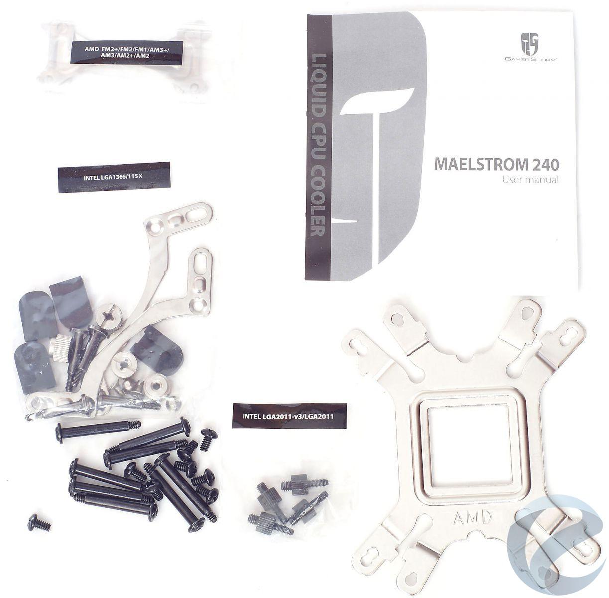 Упаковка и комплектация СЖО Deepcool Maelstrom 240T