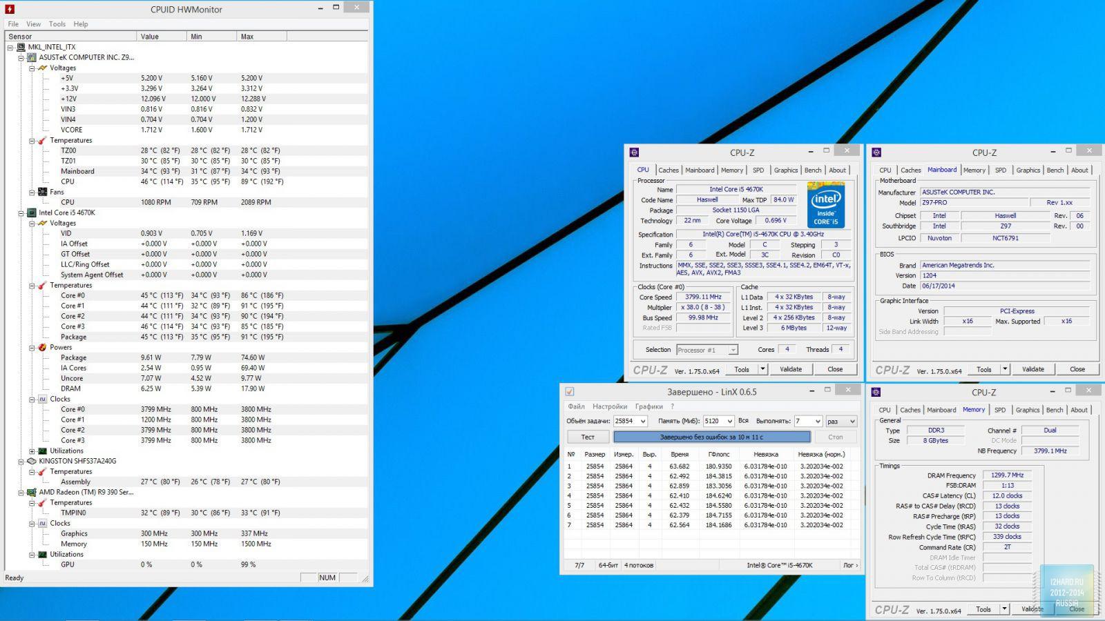 Разгон комплекта оперативной памяти Corsair Vengeance Pro 8GB DDR3L (CMY8GX3M2C2133C11R)